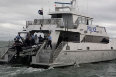 Police Boat Toughened Glass Windows