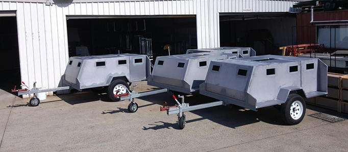 custom designed camper trailer