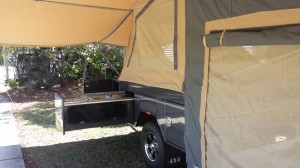 Camper Trailer Tent Open