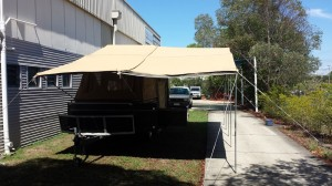 Camper Trailer with Awning