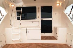hinged boat door