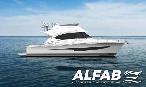 Riviera 39 Open Flybridge with advanced boat deflector screen
