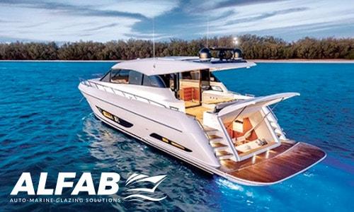 custom boat windows on maritimo x60 motor yacht