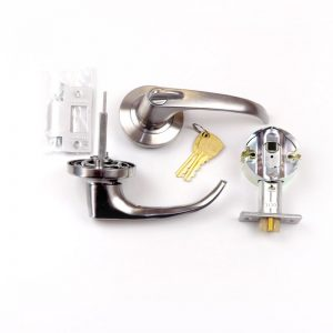 Swing Door Lock Latch Chrome/Brass
