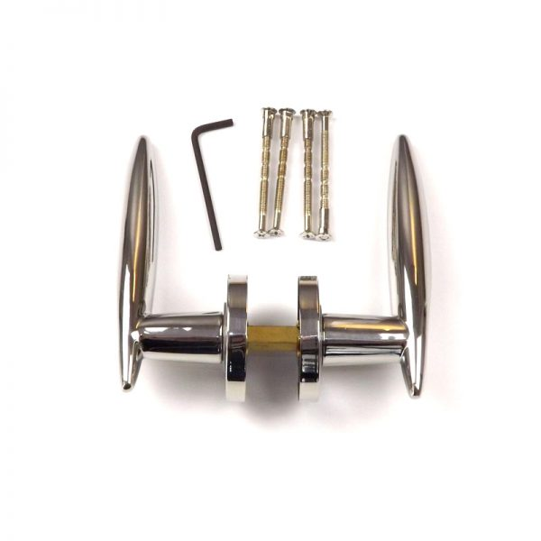 Narrow Backset & Striker Plate Lockset Stainless Steel